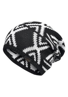 Native Beanie - Black   Ivory  a5e69b492c7c
