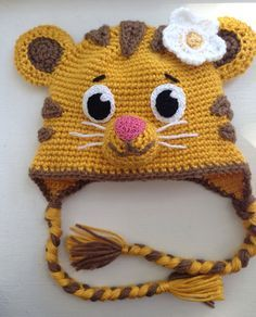 Daniel Tiger's baby sister Margaret hat by Ambercraftstore on Etsy https://www.etsy.com/listing/228737919/daniel-tigers-baby-sister-margaret-hat