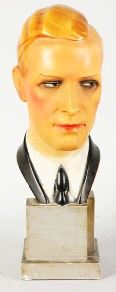 the candy man,,,see you in your dreams. Vintage Mannequin, Mannequin Heads, Vintage Advertising Signs, Vintage Advertisements, Vintage Men, Vintage Shops, Hat Display, Hat Stands, Men Store