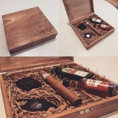 Groomsmen / Usher / Best Man Rustic Cigar Gift Box - Personalised / Engraved in Crafts, Hand-Crafted Items   eBay