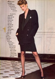 Yves Saint Laurent in Vogue US October 1981 (photography: Denis Piel) via www.fashionedbylove.co.uk