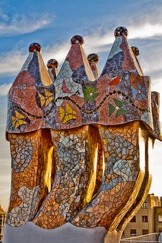 Rooftop Sculpture(Gaudi) by Robert 'Ferd' Frank