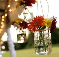 Our favorite flowers in jars