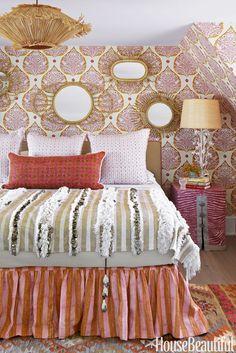 Colleen Bashaw Pink and Orange Bedroom