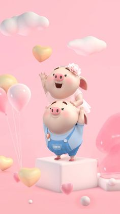 Super Ideas For Wall Paper Disney Wallpapers Heart Pig Wallpaper, Funny Phone Wallpaper, Cute Disney Wallpaper, Cute Cartoon Wallpapers, This Little Piggy, Little Pigs, Cute Piglets, Cool Paper Crafts, Funny Pigs