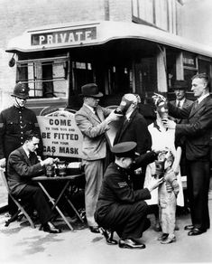 """""""Everybody Can Be Fitted With Gas Masks in London Town!"""" 1935."""