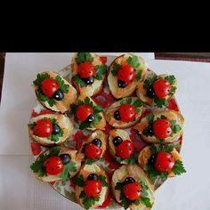 Lady bugs on bread - for the next kids tea party