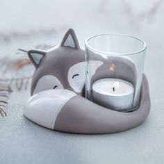 Fox candle holder