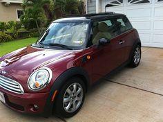 My dream car... Dark Red Mini Cooper!!!
