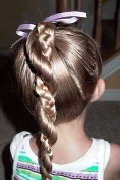 Rapunzel Twist Ponytail | 37 Creative Hairstyle Ideas For Little Girls