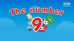 The number 9, este es el video del numero 9 en ingles para niños. #videoseningles #numeroseningles #videosbb #videosninos #videoseducativos