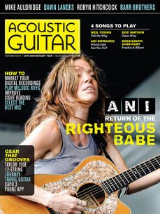 October 2014 Acoustic Guitar Magazine, Giving Back, 25th Anniversary, Playing Guitar, Order Form, Guitar Players, October 2014, Songs, Reading