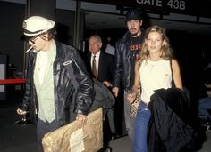 Kate perfected her travel style early, and was spotted at LAX with then-boyfriend Johnny Depp in February 1994.