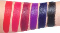 Maybelline The Loaded Bolds(L-R) Fiery Fuchsia, Rebel Pink, Berry Bossy, Violet Vixen, Midnight Blue & Pitch Black