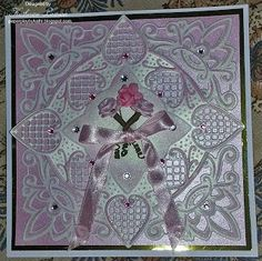 Paper Play by Kathi: Pink Roses and Creatables Card