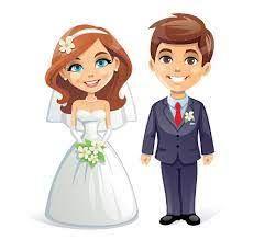 bride and groom cartoon - Google Search