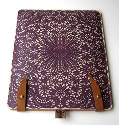 I absolutely love this!  Wish they had them for laptops... Leather iPad case (2or3) case - purple lace design