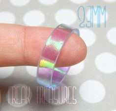 Hey, I found this really awesome Etsy listing at https://www.etsy.com/il-en/listing/233796997/rainbow-holographic-resin-ring-for-men