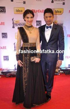 Divya Khosla Black Anarkali At Filmfare Awards