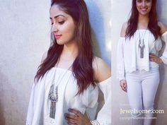 Yami Gautam shines in bohomian look in silver #jewelry