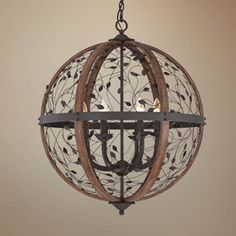 "Quoizel Chamber 24"" Wide Darkest Bronze Chandelier - #7T273 | Lamps Plus"