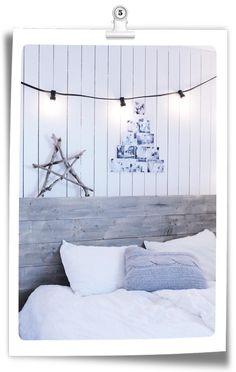 DIY Navidad: Árbol de fotografías en blanco y negro para la pared