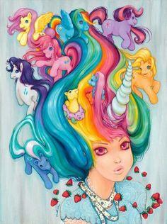 my little pony hair <3