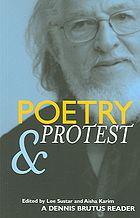 Poetry & Protest : A Dennis Brutus Reader [Print]