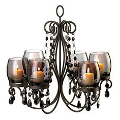 VERDUGO GIFT Midnight Elegance Candle Chandelier -- You can find more details by visiting the image link.