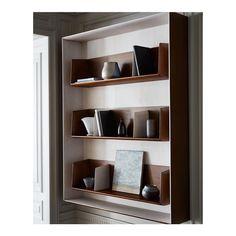Home Interior Wood .Home Interior Wood Shelving Design, Bookshelf Design, Bookcase Shelves, Bookcases, Interior Desing, Interior Architecture, Interior Decorating, Cabinet Furniture, Furniture Design