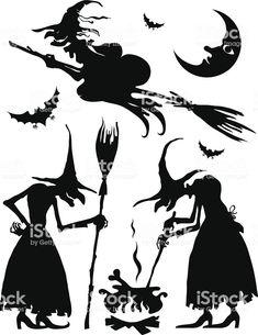 Ensemble des sorcières ensemble des sorcières – cliparts vectoriels et plus d'images de adulte libre de droits