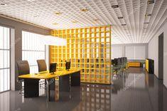Oficina moderna con equipos interiores 3d render