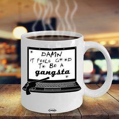 Funny Gangsta Coffee Mug - Funny Coffee Mug - Office Space Coffee Mug - coffee mug humor - Gift for Bestie - Statement Mug Cool Kitchen Gadgets, Cool Kitchens, Funny Coffee Mugs, Cool Gifts, Funny Gifts, Feel Good, Your Favorite, Coffee Cups, Coffee Lovers