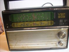 Retro  Radio TransistorSoviet Vintage RadioTransistor Radio VEF 206 Old Home Audio made in USSR 70s