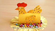 Toilet Paper Roll Crafts - Get creative! These toilet paper roll crafts are a great way to reuse these often forgotten paper products. You can use toilet paper Farm Crafts, Easter Crafts For Kids, Toddler Crafts, Toilet Roll Craft, Toilet Paper Roll Crafts, Easter Activities, Craft Activities, Chicken Crafts, Hen Chicken
