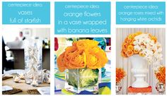 great look for summer centerpieces on the tables