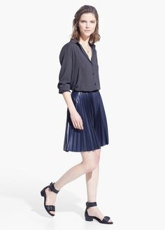 Pleated skirt | MANGO