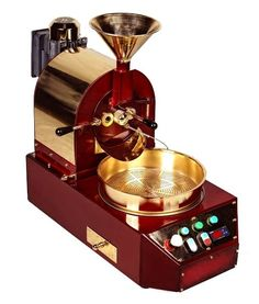 #coffee#roaster#for#coffee#shops#countertop#roasting#machine#red#and#golden KUBAN COFFEE ROASTER WITH 1/2 KG CAPACITY. WHEN GOLDEN YELLOW AND RED MEETS.. RESULT; AESTHETETICS AND KUBAN TECHNOLOGY