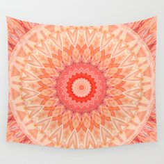 Buy Mandala soft orange by Christine baessler as a high quality Wall Tapestry. Worldwide shipping available at Society6.com. Just one of millions of…
