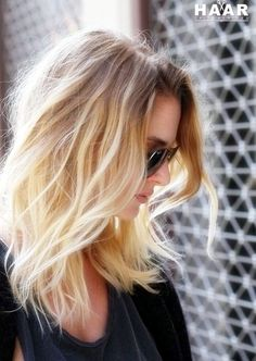 Blonde ombré before and after. From grown out all over ...