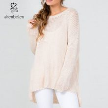 Fashon beige loose fit big neckline womens wholesale sweater     Best Seller follow this link http://shopingayo.space