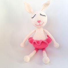 Bamse Archives - Page 2 of 4 - Kreamania Crochet For Kids, Crochet Toys, Knit Crochet, Crochet Rabbit, Knitted Animals, Crochet Projects, Crochet Ideas, Needle Felting, Free Pattern