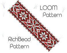 Beaded loom pattern Beadweaving pattern Loom pattern Miyuki | Etsy