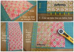 Diary of a Quilter - a quilt blog: Quilt Along Series: Cutting Fabric