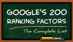 SEO: A Complete List Of Google's 200 Ranking Factors | Red Website Design Blog