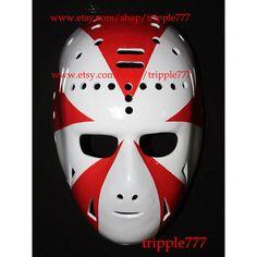 RARE Gift vintage style fiberglass nhl roller street dek air ice hockey goalie face mask helmet Doug Favell Philadelphia 1973 mask HO19