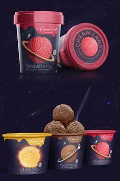 #ice #icecream #labeldesign #packagingdesign