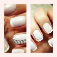 Pretty #nails and would be great for #brides!  By Fatma A @bloomdotcom