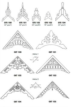 Gable Top End Treatments A gable treatment will adorn the pitch of your roof. Gable End Treatments Victorian Porch, Victorian Design, Victorian Homes, Exterior Trim, Exterior Design, Interior And Exterior, Victorian Architecture, Architecture Details, Roof Design