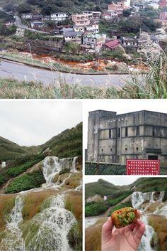 The Golden Waterfall, Jiufen, Taiwan